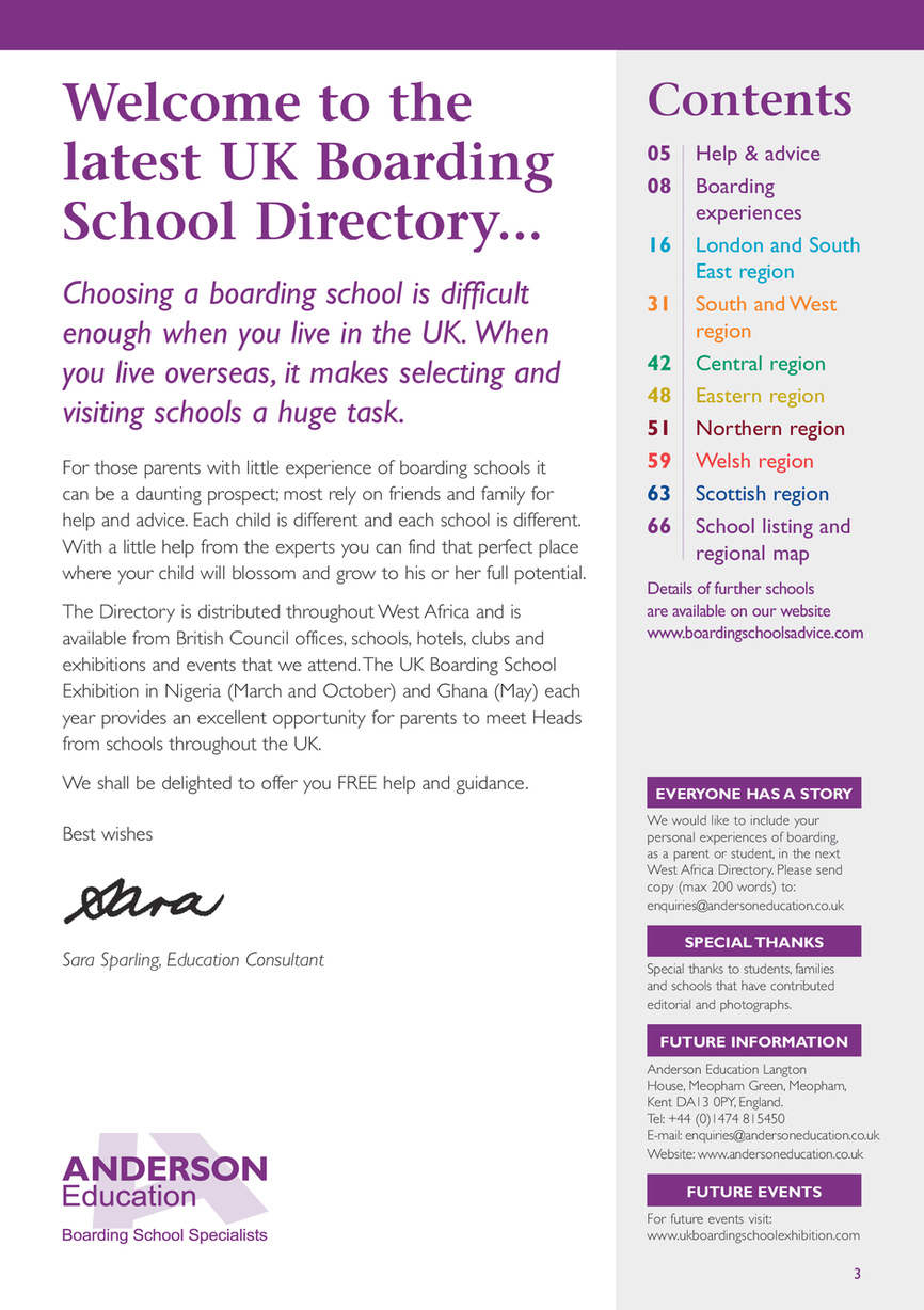 England Page 3 >> Uk Schools Directory 2019 20 For West Africa Page 3